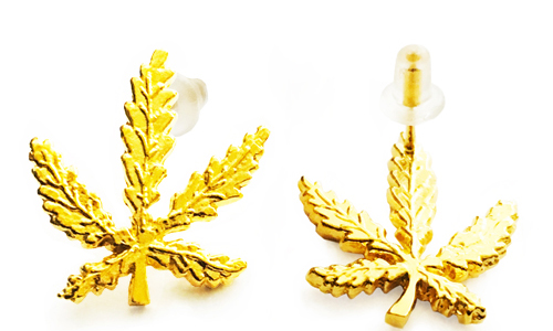 420 Leaf Earrings